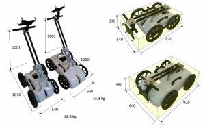 CrossOver GPR Antenna ImpulseRadar, dimensions