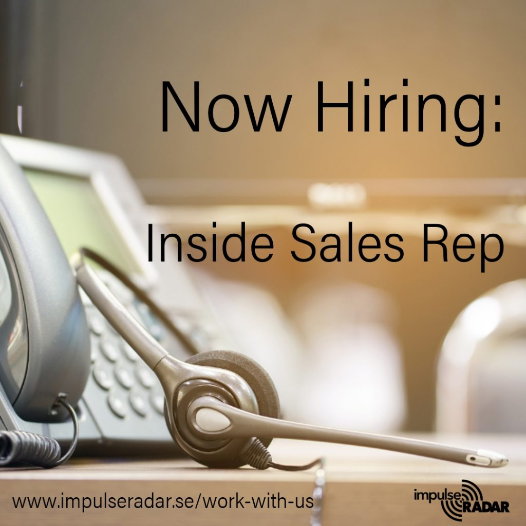 Now hiring for an inside sales representative