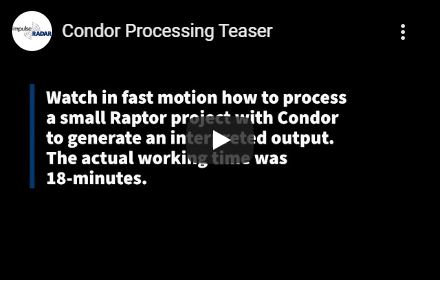 Condor GPR data processing video